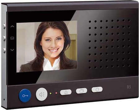 TCS Tür Control Video color PAK-Monitor sky AP schwarz IVW2221-0
